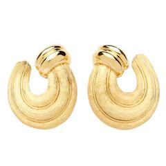 Henry Dunay Sabi Finished Gold Earrings