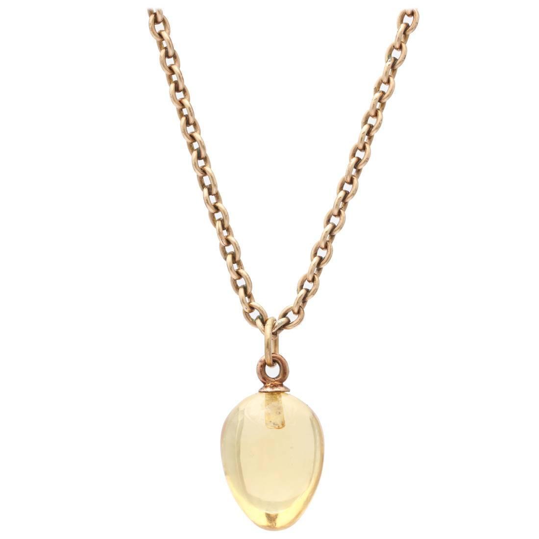 1900 russian citrine gold easter egg pendant at 1stdibs