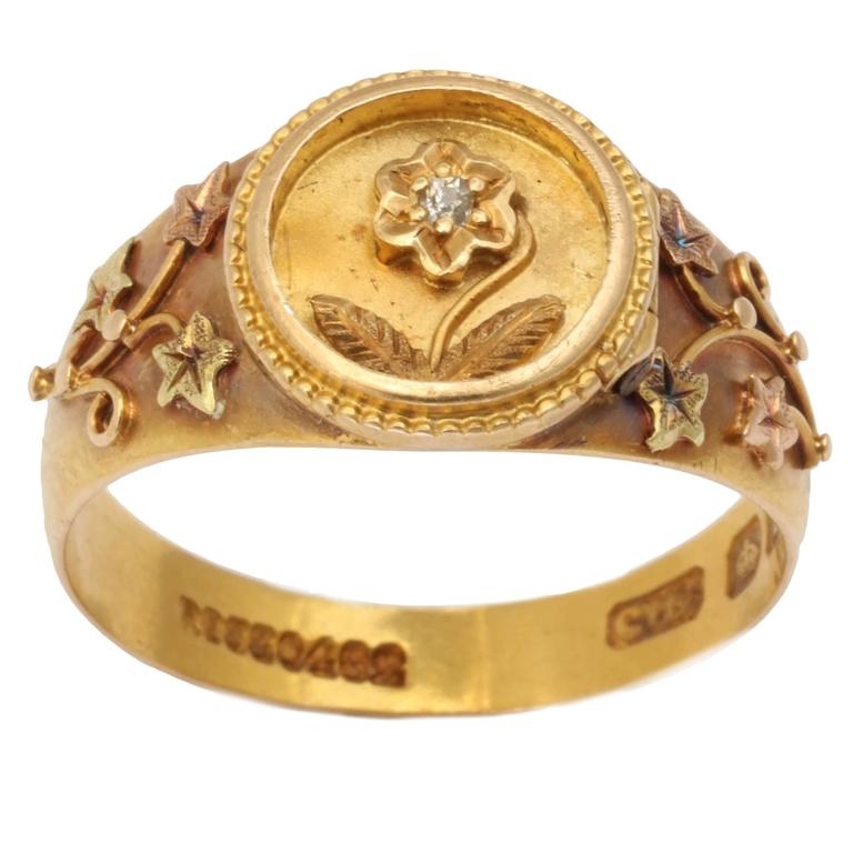 Diamond Gold Locket Ring for Sweet Thoughts 1