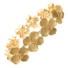 Tiffany & Co. Gold Dogwood Bracelet