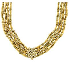 Seidengang 4 Strand Diamond Gold Necklace