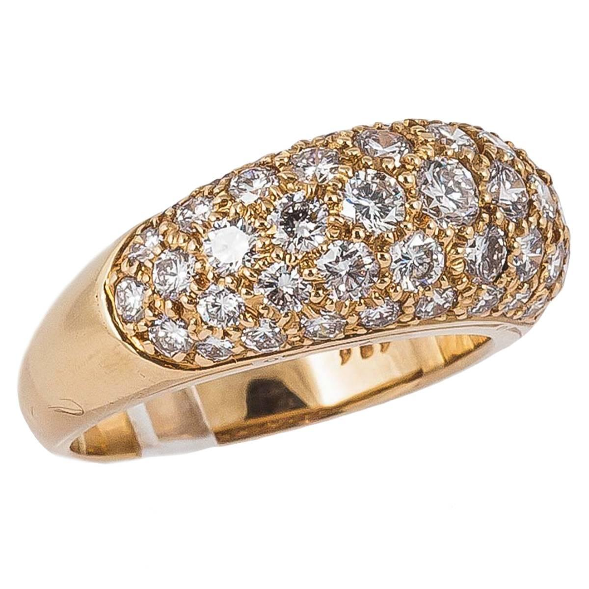 oscar heyman pave gold dress ring for sale at 1stdibs