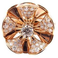 Bulgari Diva Diamond Rose Gold Cocktail Ring