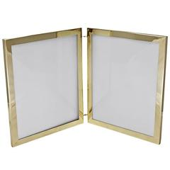 Cartier Rare Large Gold Double Picture Frame