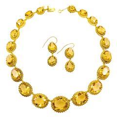Sunshine Yellow Citrine Gold Suite