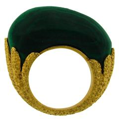 1970s Van Cleef & Arpels Malachite Gold Ring