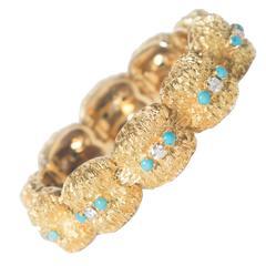 Brushed 18K Gold Link Bracelet