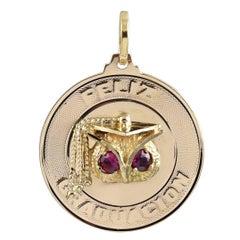 Feliz Graduacion Ruby Gold Charm