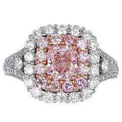 1.00 Carat GIA Certified Natural Pink Diamond Gold Ring