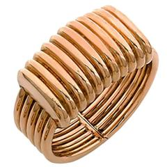Unusual Italian Retro Gold Bracelet