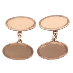 Cufflinks in 9k Rose Gold - Antique 1899