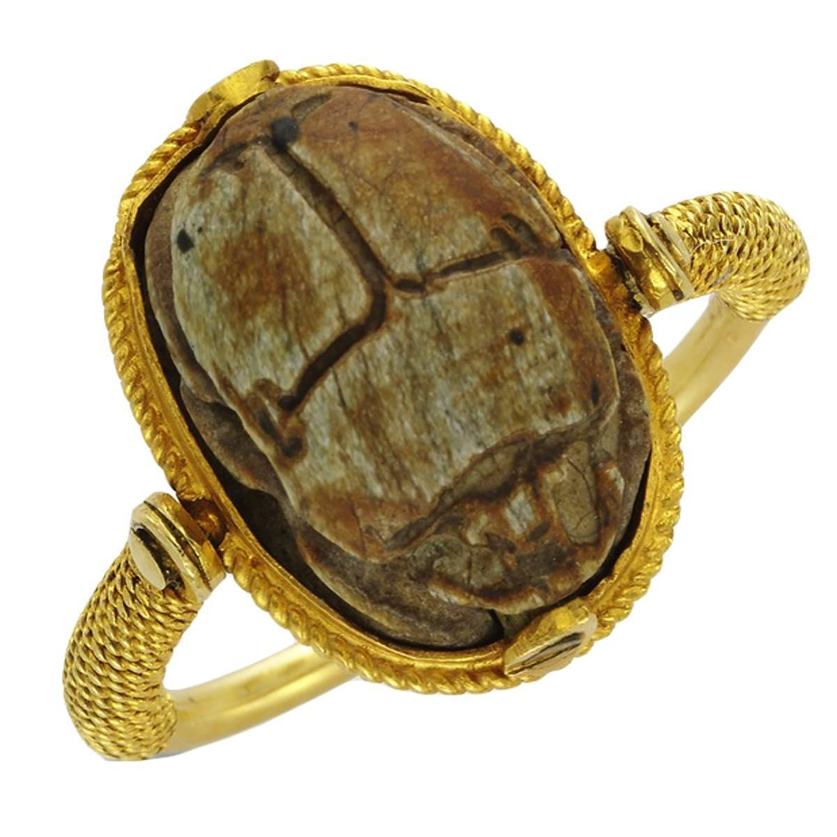 an antique scarab ring at 1stdibs