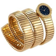 Bulgari Yellow Gold Triple Twist Tubogas Serpenti Wristwatch