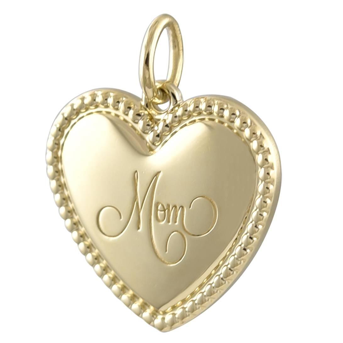 Tiffany and co gold mom heart charm for sale at 1stdibs for New mom jewelry tiffany