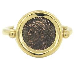 Bulgari Monete Ancient Coin Gold Ring