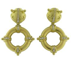 Paul Morelli Diamond Gold Drop Earrings