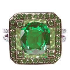 Solange Tsavorite Gold Ring