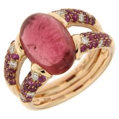 Jona Pink Tourmaline Sapphire 18k Rose Gold Ring