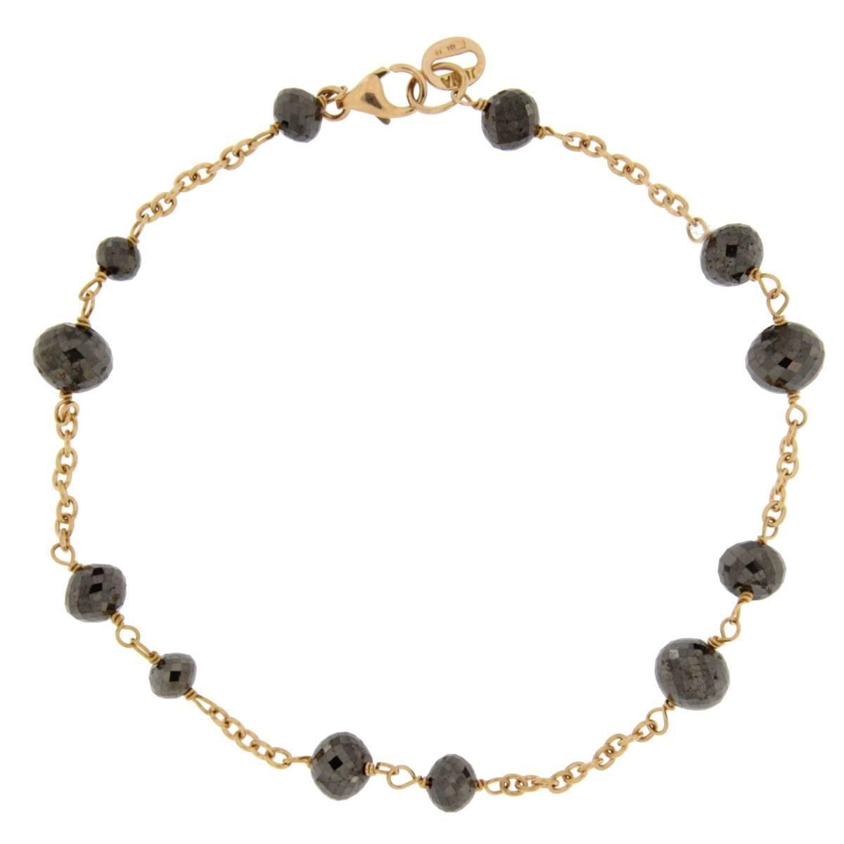 Jona Black Diamond 18 Karat Rose Gold Bracelet