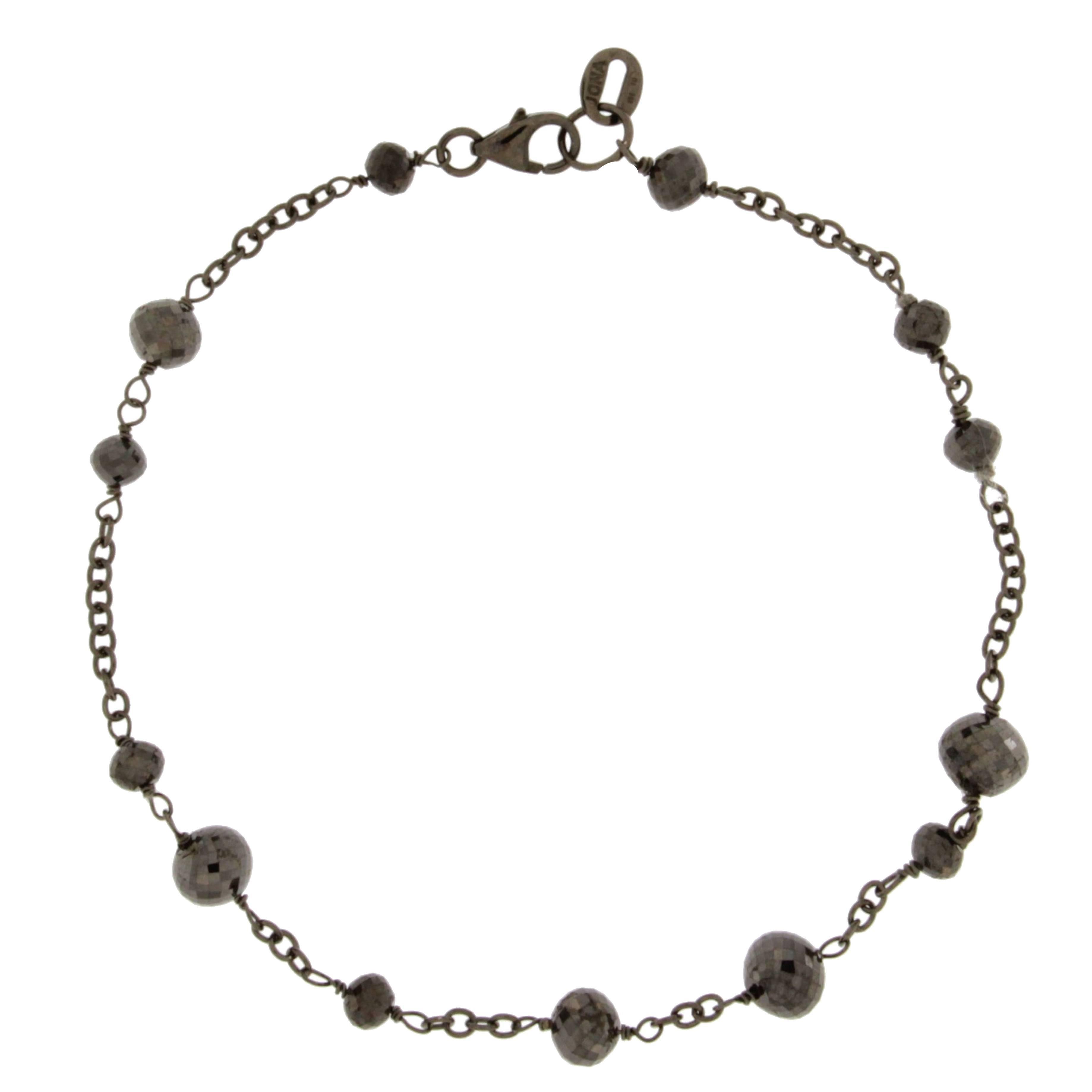 Alex Jona Black Diamond 18 Karat White Gold Black Rhodium Bracelet