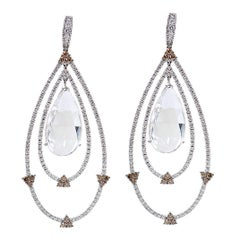 24.99 Carat Diamond Quartz Earrings