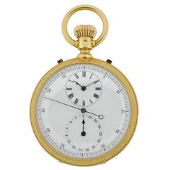 1890s Yellow Gold Man's Pocket Watch