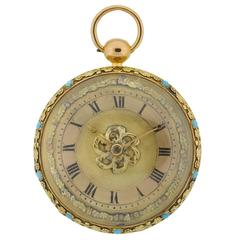 Multi Color Gold Ancient Chain Driven Pocket Watch