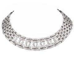 Cartier Double C Diamond Gold Choker Necklace
