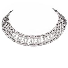 Cartier Double C Diamond Gold Choker Necklace
