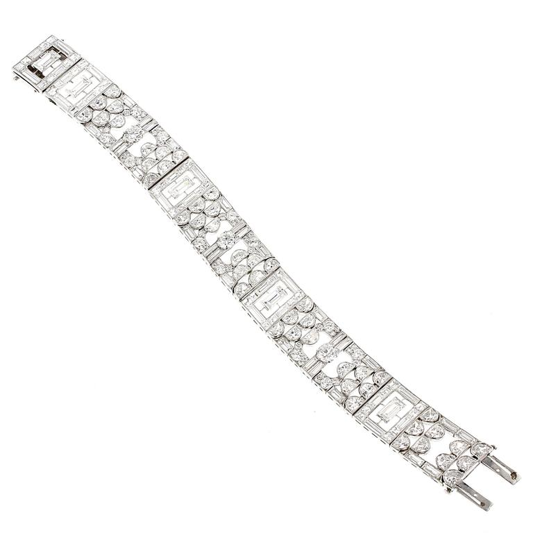 Cartier Exceptional and Rare Art Deco Diamond Platinum Bracelet