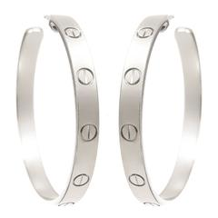 "Cartier Gold ""Love"" Hoop Earrings"
