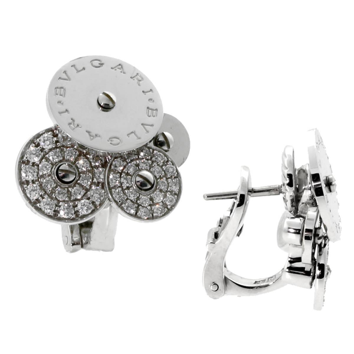 bulgari cicladi diamond gold earrings