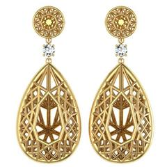 Sayaka Yamamoto & Sparkles Diamond and Gold Earrings