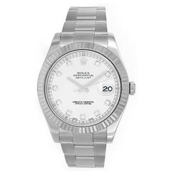 Rolex Stainless Steel Diamond Dial Datejust Automatic Wristwatch Ref 116234
