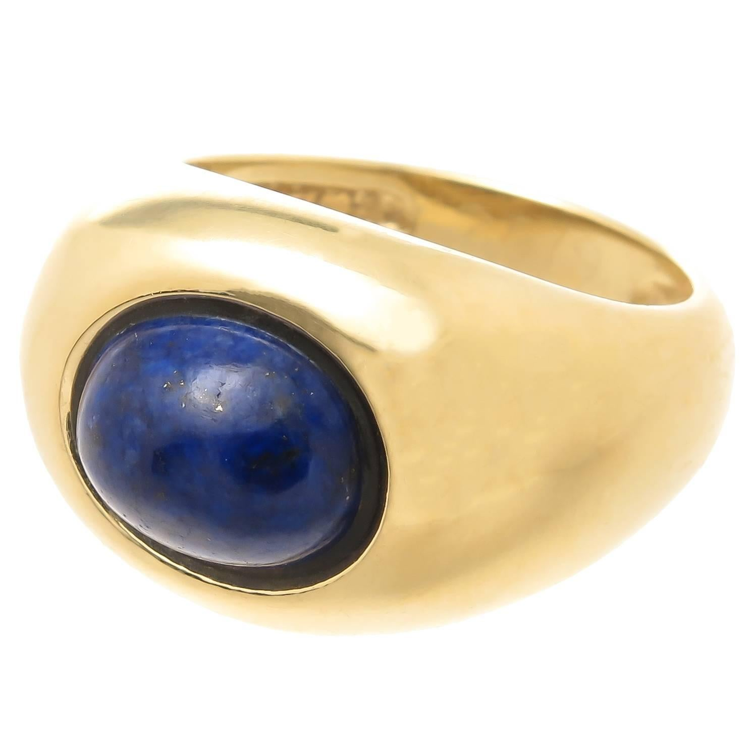 ff0cc2788 Tiffany and Co. Lapis Gold Ring For Sale at 1stdibs