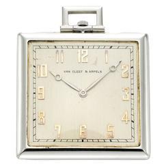 Van Cleef & Arpels White Gold Pocket Watch