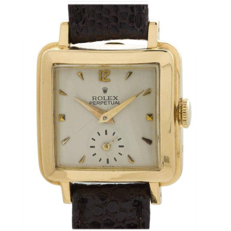 Rolex Lady's Yellow Gold Square Bubbleback Wristwatch Ref 4663  For Sale