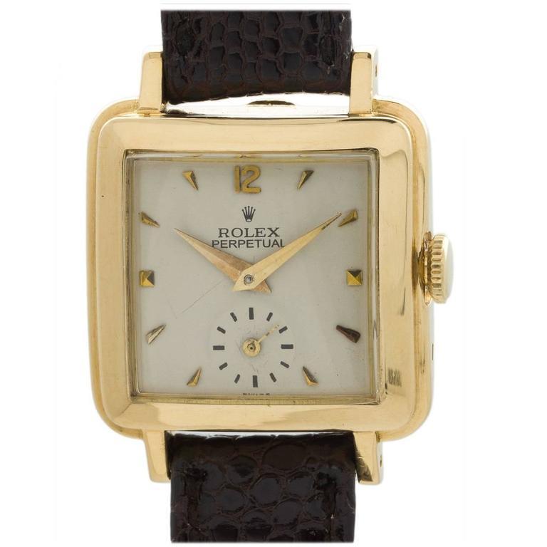 Rolex Lady's Yellow Gold Square Bubbleback Wristwatch Ref 4663  1
