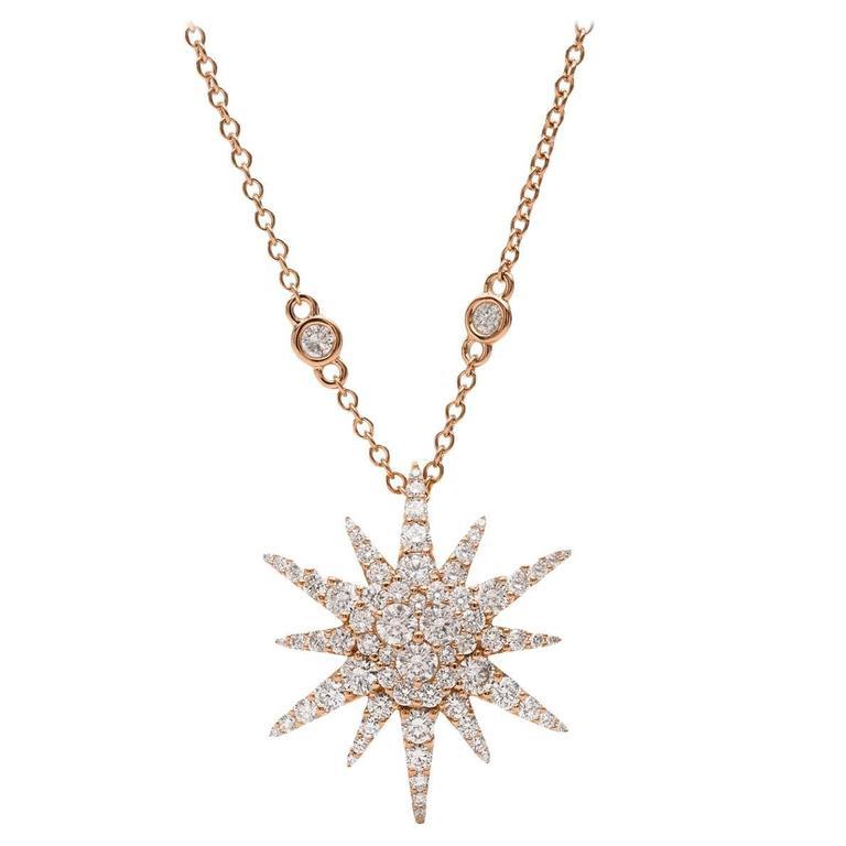 Diamond Gold Starburst Pendant