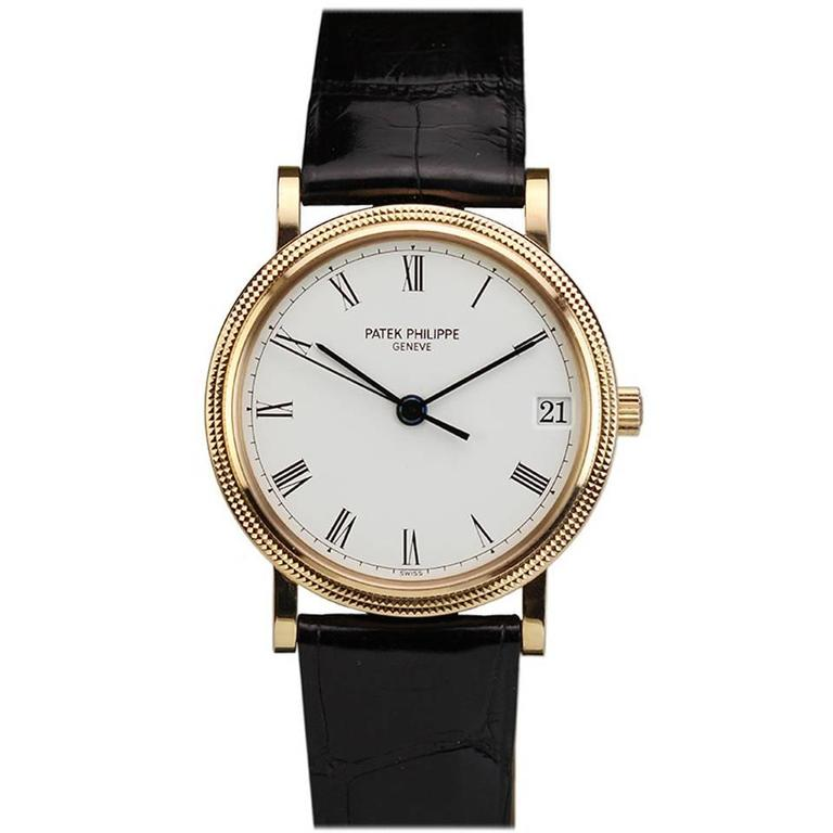 Patek Philippe Rose Gold Calatrava Wristwatch Ref 3802/200R  For Sale