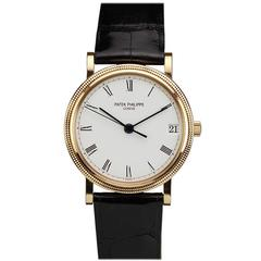 Patek Philippe Rose Gold Calatrava Wristwatch Ref 3802/200R