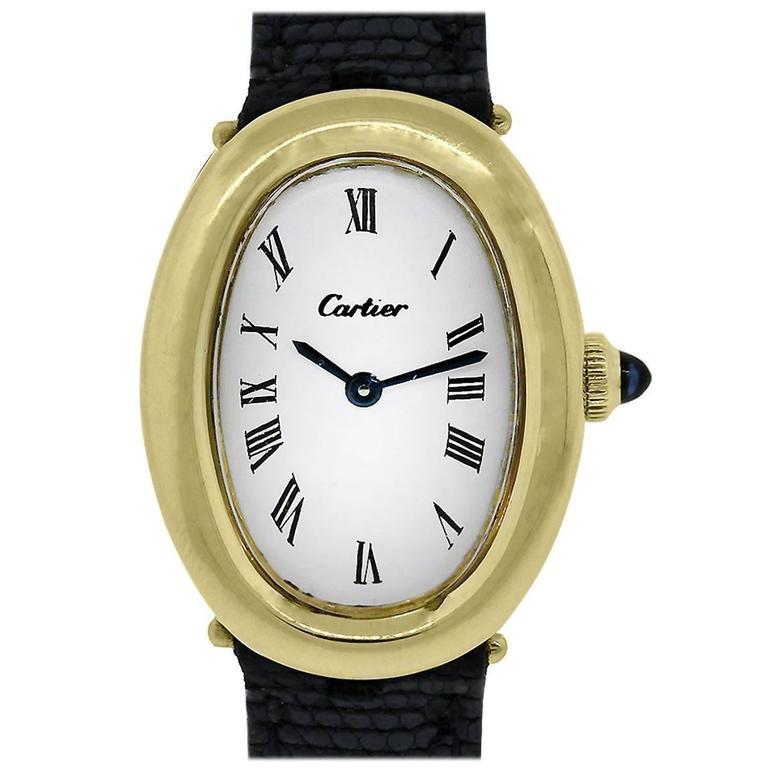 Cartier Lady's Yellow Gold Baignoire Quartz Wristwatch