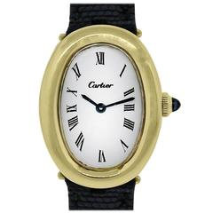 Cartier Lady's Yellow Gold Baignoire Quartz Wristwatch