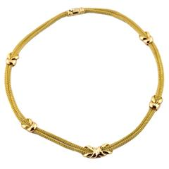 18k Gold Weave Necklace
