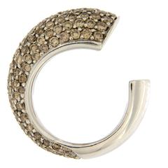 Jona Champagne Diamond White Gold Pinky Ring