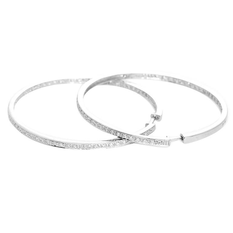 Amazing Diamond Gold Inside-Out Hoop Earrings