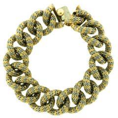 Van Cleef & Arpels Paris Gold Platinum Curb Link Bracelet