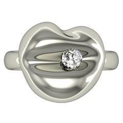 Barbara Nanning & Sparkles Diamond and Gold Kiss Ring