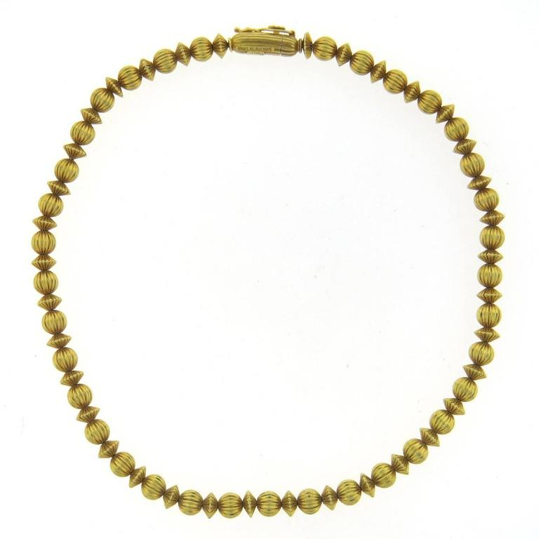 Ilias Lalaounis Greece Gold Necklace