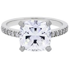 Tiffany And Co Legacy Platinum 4 33ctw Diamond Engagement